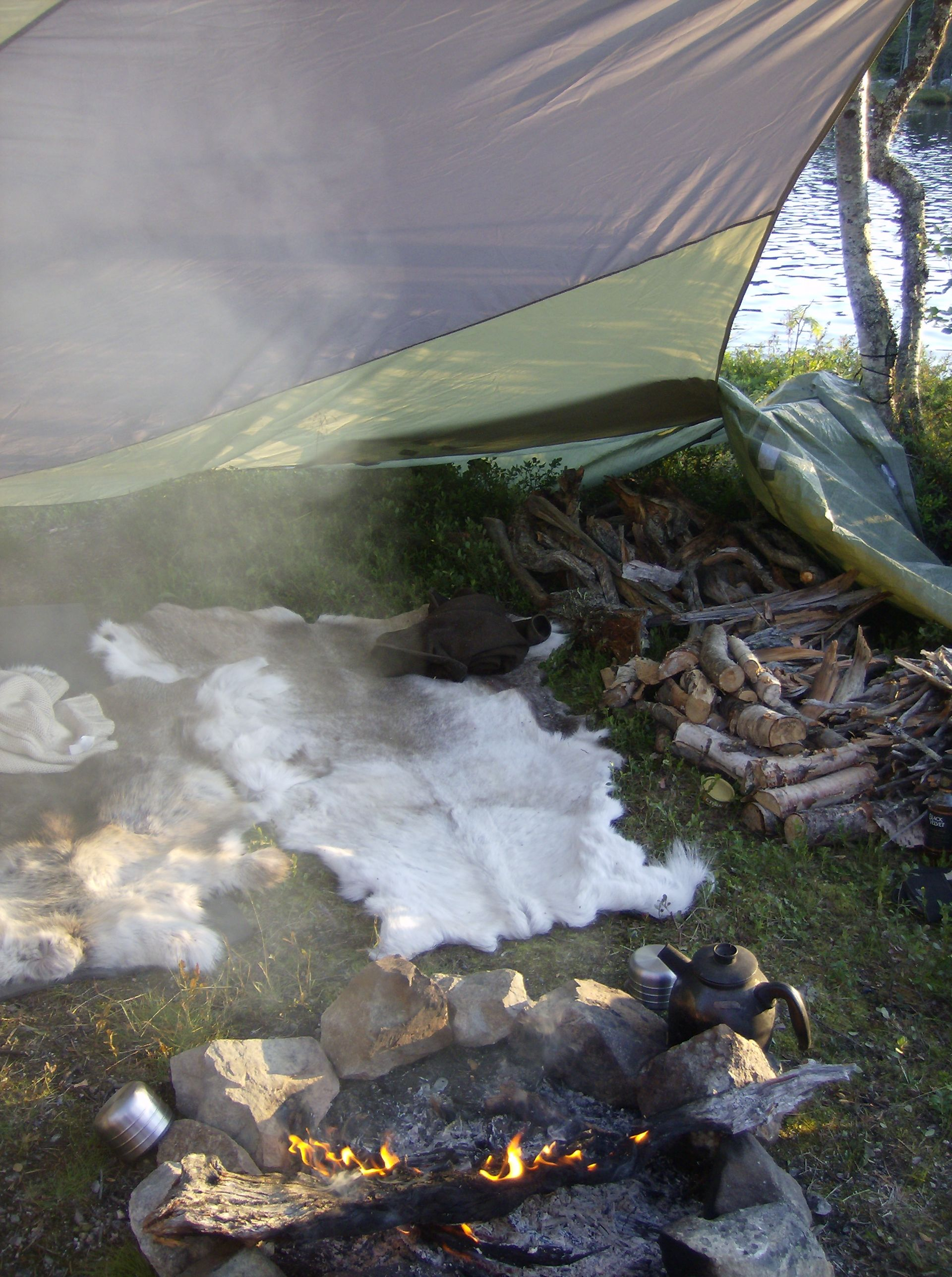 Wilderness Camping in Lapland.