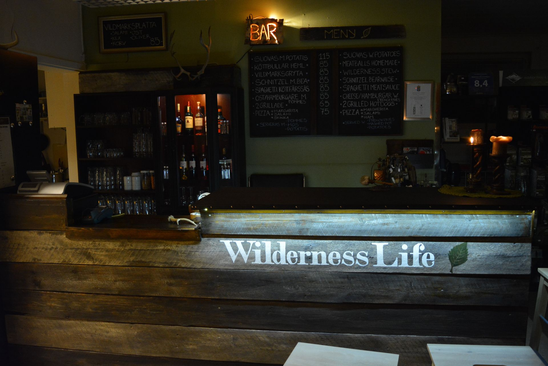 Wildnis Cafe in Lappland