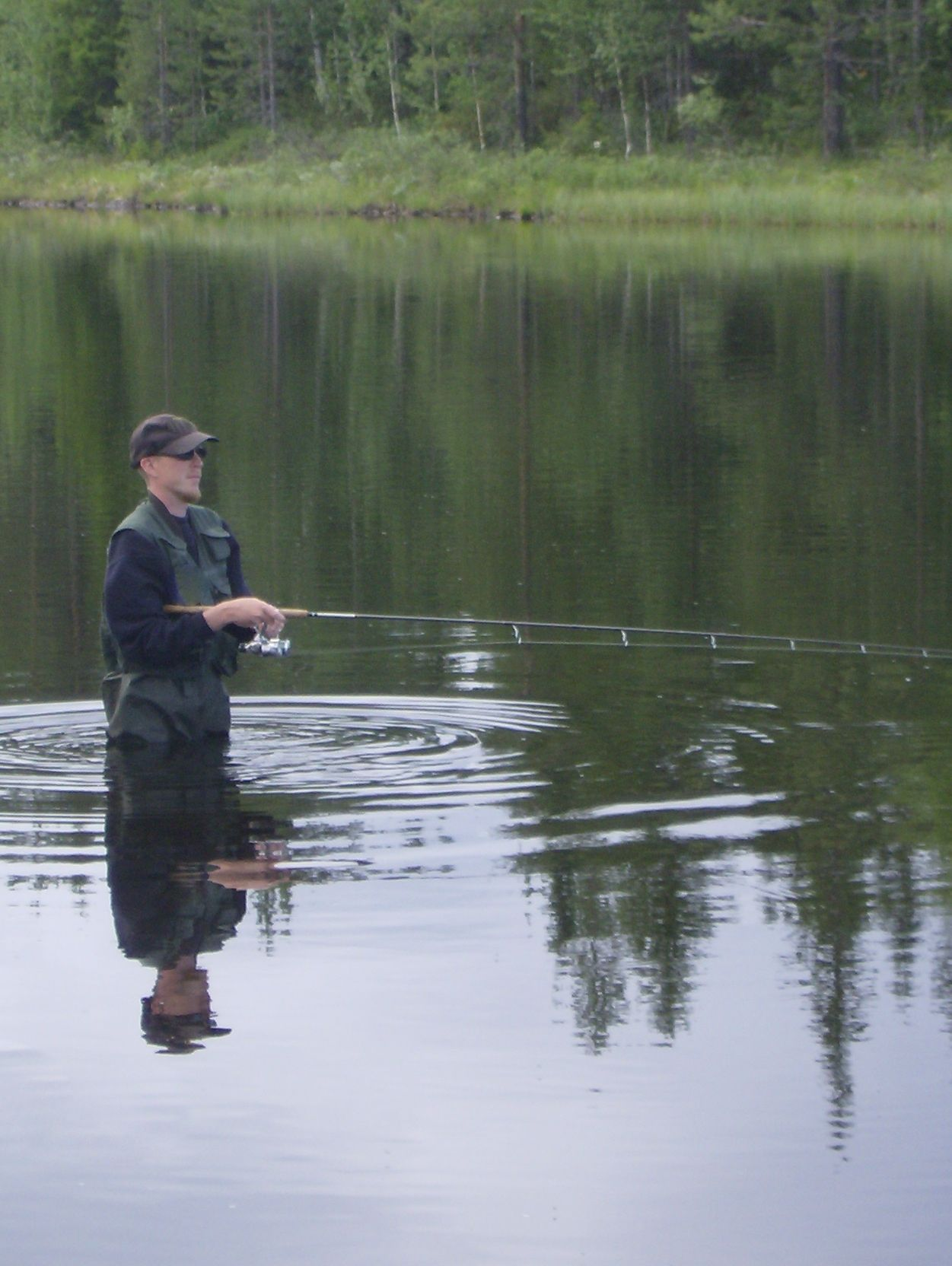 Spin fishing in Lapland