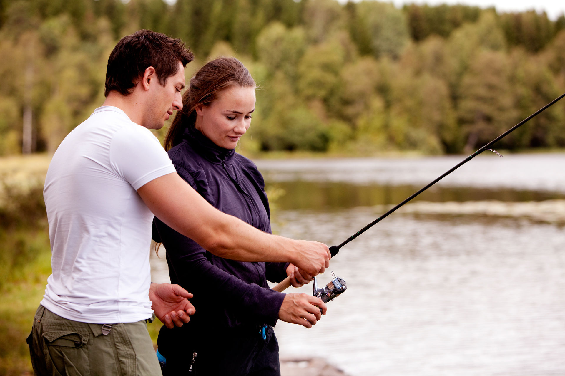 Teambuilding fishing activity in Lapland